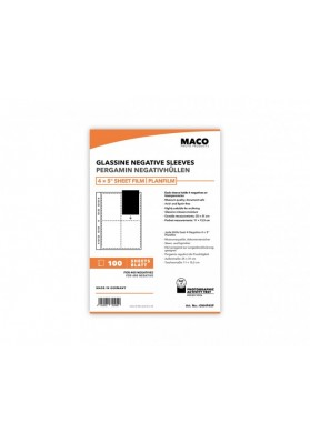 MACO Glassine Negative Sleeves for 4x5' sheet film | 5 sheets