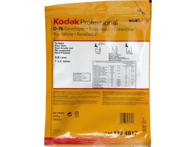 Kodak D-76 BW powder Developer to make 3.8 L