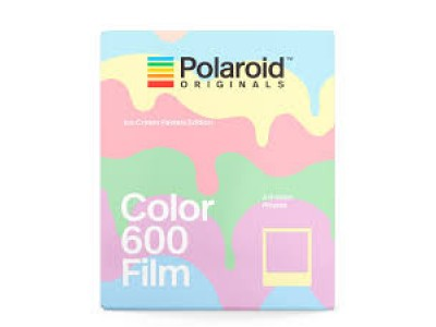 Polaroid Color 600 instant film 8 Exposure Ice Cream Pastels Edition