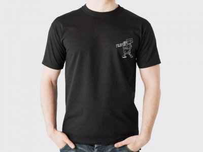 Stay Healthy Tee series - In Film We Trust - Black